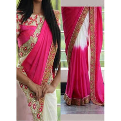 MAS Party wear Designer Hand Made Georgette Saree, With Blouse Piece