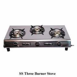 SS Three Burner Stove