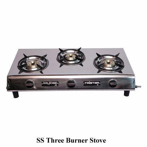 Ss Three Burner Stove, Three Burner Stove   Steel Mac, Mumbai   ID:  14392440497