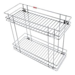 10x12x17 Inch Stainless Steel Double Pull Out Basket