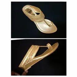 Women Shining Wedge Sandal