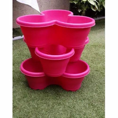 Plastic Pot, Size: 55 X 50 Mm