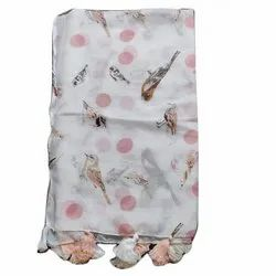 Casual Wear 50x180 CM Printed Cotton Stole