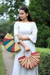 KAUNAMANI Handbags Kauna Multi Colour U Bag, 400GRAM, Size: Medium