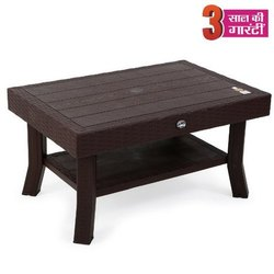 Brown,Amber Gold Avro Viva Double Top Rattan Center Table, Weight: 6 Kg
