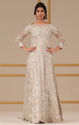 Offwhite Color Designer Floor Length Dress
