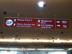 Reflective Way Finding Signs
