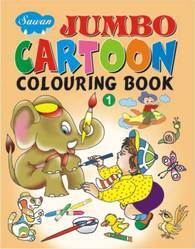 Jumbo Cartoon Colouring Book 1