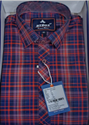 Men Cotton Check Red Shirt