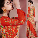 3/4th Sleeves Karigari Stylish Look Gown