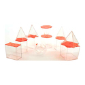 Transparent 3D Solid Set 10cm