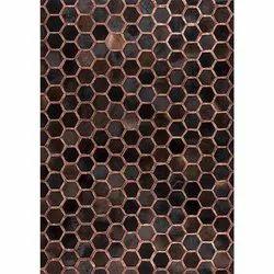 Vega Designer皮革棕色地毯