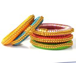 Indian Handicraft Fashion Grand Party Wear Silk Thread Bangles