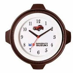 Brown, White and Orange Brown Plastic Wall Clock, For Promotional Gift, Model Name/Number: GBP4