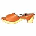 Orange And Lime Yellow Mini Block Heels