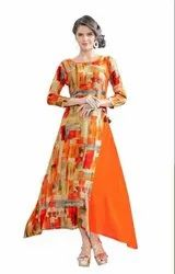 Ladies Ethnic Orange Kurti