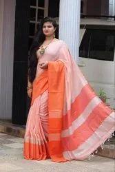 Simply Great Linen Self Saree
