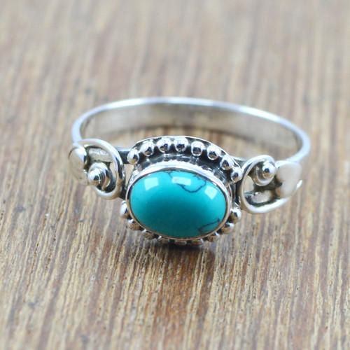 Handmade 925 Silver Jewelry Turquoise Gemstone Ring