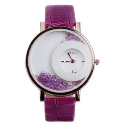 Formal Wear Mxre Stone Half Moon Dial Analog Watches