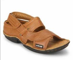 Tan Low Ankle Slip On Sandal