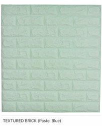 Textured Brick (Pastel Blue) Wall Panel