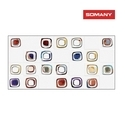 Somany Artline Hl 01 Wall Tile, Thickness: 9.5 Mm