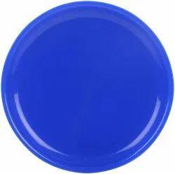 MEHUL 6 Pcs Melamine Full Plate - Blue (6 Plate Set)