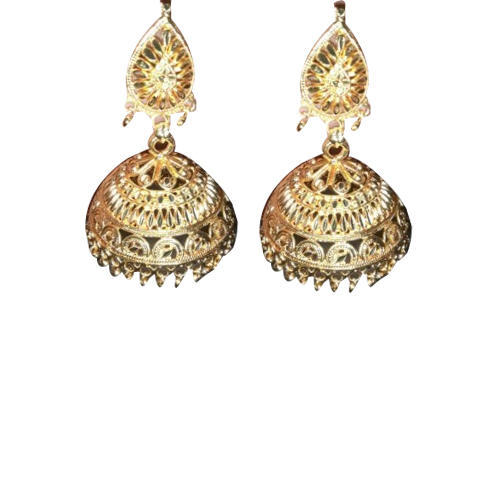 Wedding Wear Artificial Golden Jhumka Earrings At Rs 55 Pair Gold