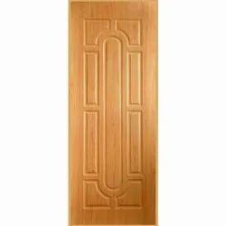 Brown Pine Wood Pinewood Membrane Door, Size: 7 x 3 Feet