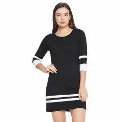 Plain Western Wear Women Casual Dress