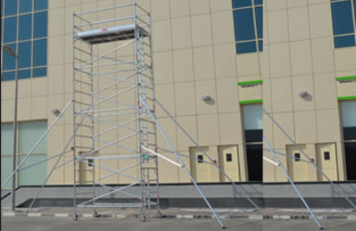 Aluminium Double Width Mobile Scaffolding without Stairway