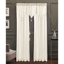 Plain White Chiffon Decorative Curtain