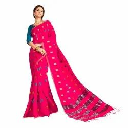 Cotton Silk Festive Wear Weaving Saree With Blouse Piece