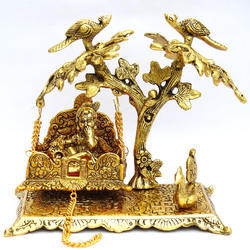 Brass Laddu Gopal with Swing, Packaging Type: Box