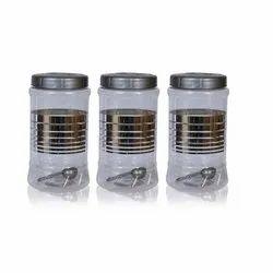 Plastic Silver Jar