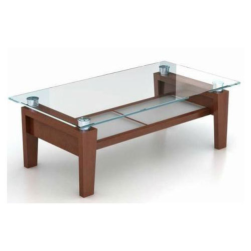 Wooden Centre Table Designs With Glass Top Glass Decorating Ideas