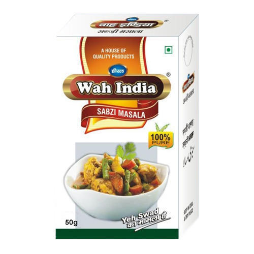 50 g Sabji Masala, Packaging: Box