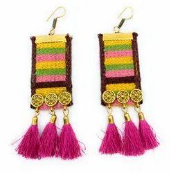 FE001 Handmade Fabric Earrings
