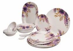 MEHUL 40 pcs Melamine Dinner Set Design Bell Flower Standard Size.