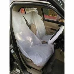 White Non-Woven Car Seat Cover