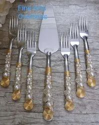 Beaded Stainless Steel Cutlery Set