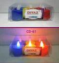 Diwali Designer Color Diya Candle
