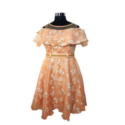 Girls Floral Party Wear Gown