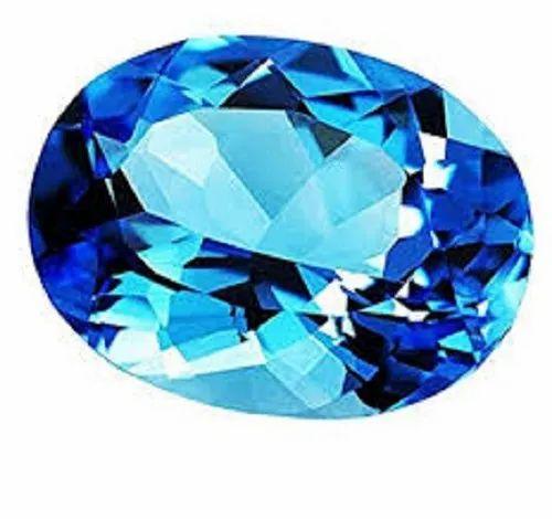 Natural Swiss Blue Topaz Stone