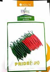 Rasi HYVEG Chilli Seeds Pride Hybrid F1 Rasi Seeds, For Farming, Pack Size: 10 Gm