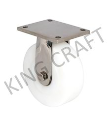 150 Mm Stainless Steel Fabricated Caster On UHMW Wheel