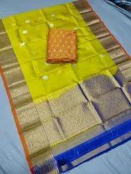 Gadwal pure silk dress material