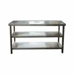 Chrome Finish Commercial Stainless Steel Working Table