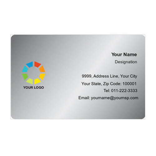 Plastic With Foiling Silver Business Cards Rs 6000 Piece Id