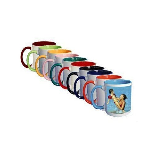 Ceramic Inner And Handle Color Mugs